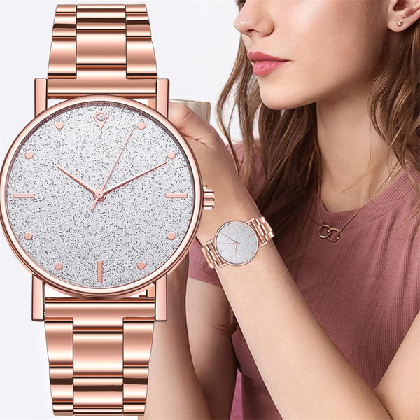 2019 Fashion Women's steel Bracelet Watches Luxury Diamond Star dial Ladies Dress Clocks Quartz Analog Montre femme Casual Watch