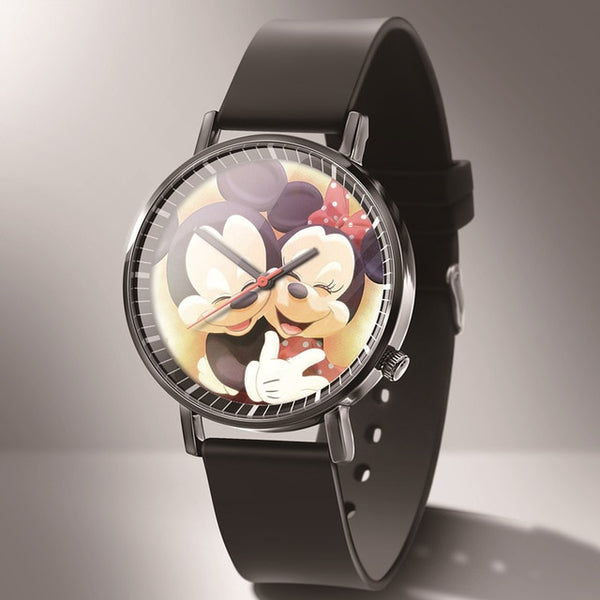 kobiet zegarka New Fashion Mickey Mouse Brand Watch boy girl Cartoon Leather Quartz Watches boy girl favorite gift reloj hombre