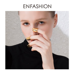 ENFASHION Punk Nails Ring Finger Rings For Women Accessories Gold Color Creative Ring Fashion Jewelry Gift Dropshipping R194024