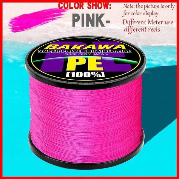 BAKAWA 300M to 1000M 8 Strands Super Strong 4 Braided Fishing Lines PE Multifilament Lines for Carp Fishing Wire Rope Cord Pesca