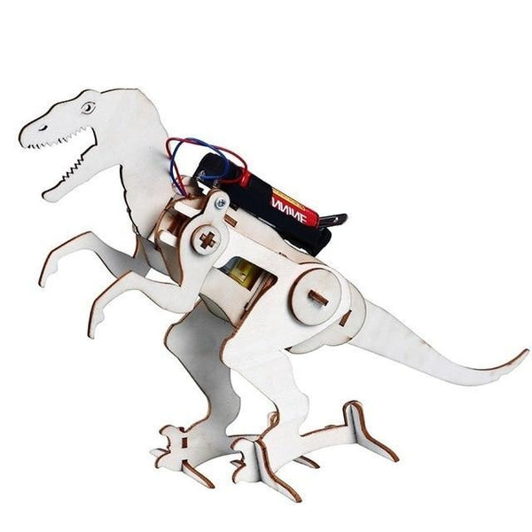 DIY STEM Toys For Children Electric Walking Dinosaur T Rex Construction Puzzle Boys Craft Technology Educational Toys Brinquedos