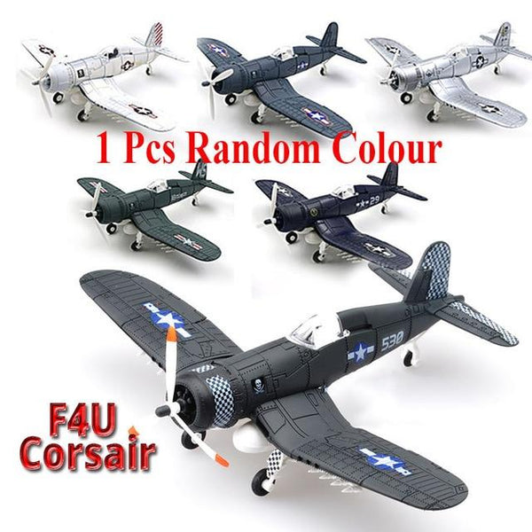 20*18CM  Assemble Fighter Model Toys Building Tool Sets Combat Aircraft Diecast War-II BF-109 Hurricane Spitfire Pirate Military