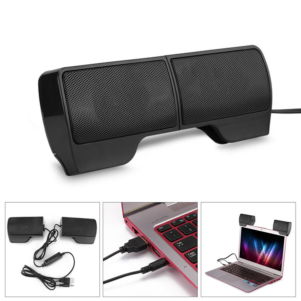 Portable  Soundbar Speaker 4.8ft USB Powered Two 3D High Fidelity Sound Stereo  for Laptop notebook for MP3 MP4 MP5 phone for PS