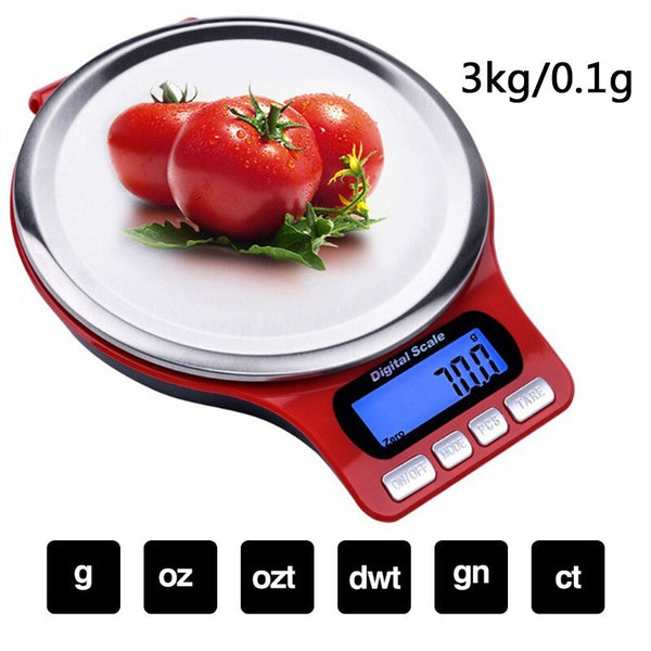 Portable Digital Scale LED Electronic Scales Postal Food Measuring Weight Kitchen LED Electronic Scales (Batteries Not Included)