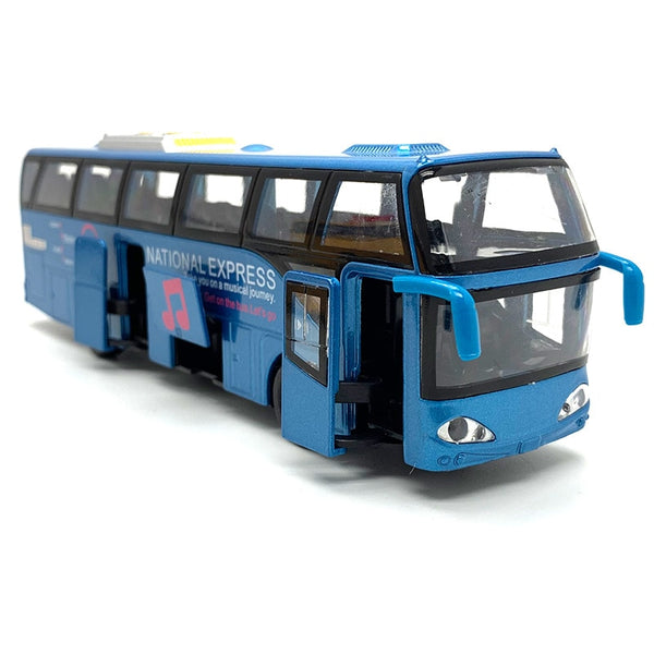 1:32 Alloy Car Models,High Simulation City Bus,Diecast, Toy Vehicles, Pull Back & Flashing & Musical