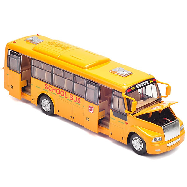 Boutique gift 1:32 large voice broadcast school bus alloy model,simulation diecast sound and light pull back model,free shipping
