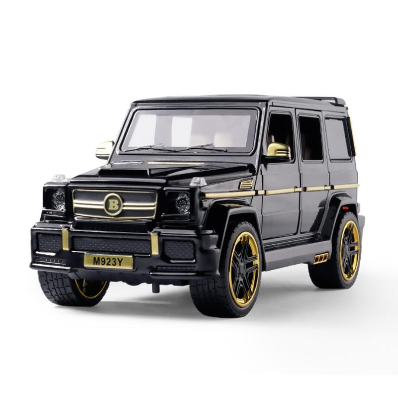 1:24 Diecast Pull Back Sound and Light Alloy Vehicle Children Toys SUV AMG G65 Car Model Off-road Vehicle Collectable Gifts V206