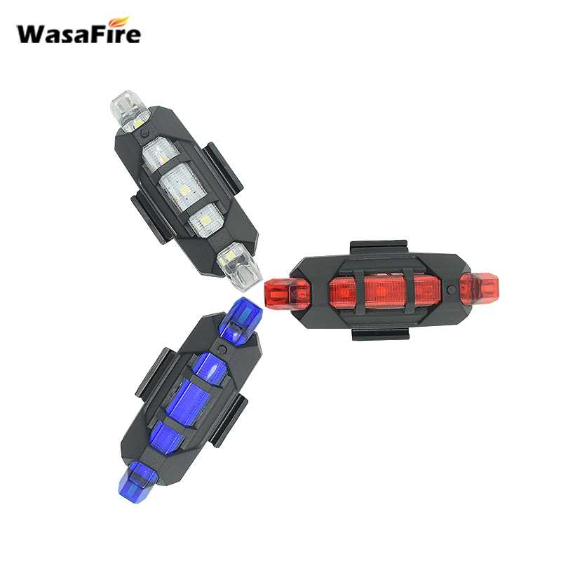 WasaFire Bicycle Accessories Bike Light 5 Led Usb Rechargeable Bicycle Headlight Portable Bulit-in Battery