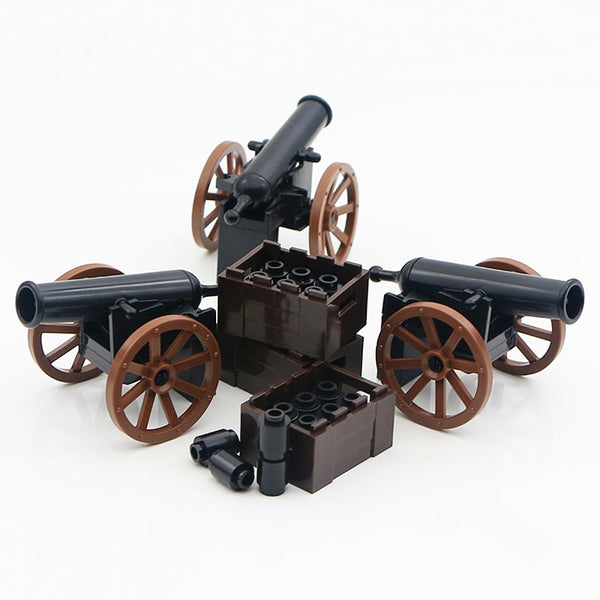 WW2 Military Blocks Roman Army Medieval Soldier Parts Knight Cannon Accessories Brick Gun Carrier Weapon Building Toys Boys Gift