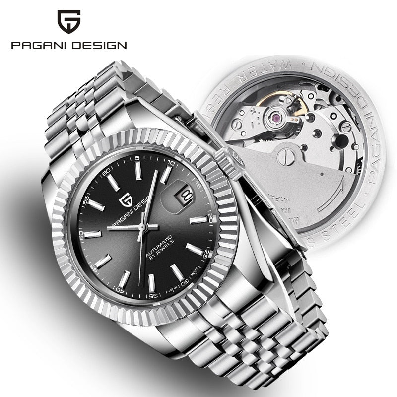 Men's Watches 2020 New Top Luxury Brand PAGANI Design Fashion Automatic Mechanical Steel Watch Men Military Sport Wristwatch+box