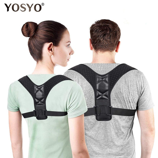 Back Posture Corrector Belt Women Men Prevent Slouching Relieve Pain Posture Straps Clavicle Support Brace