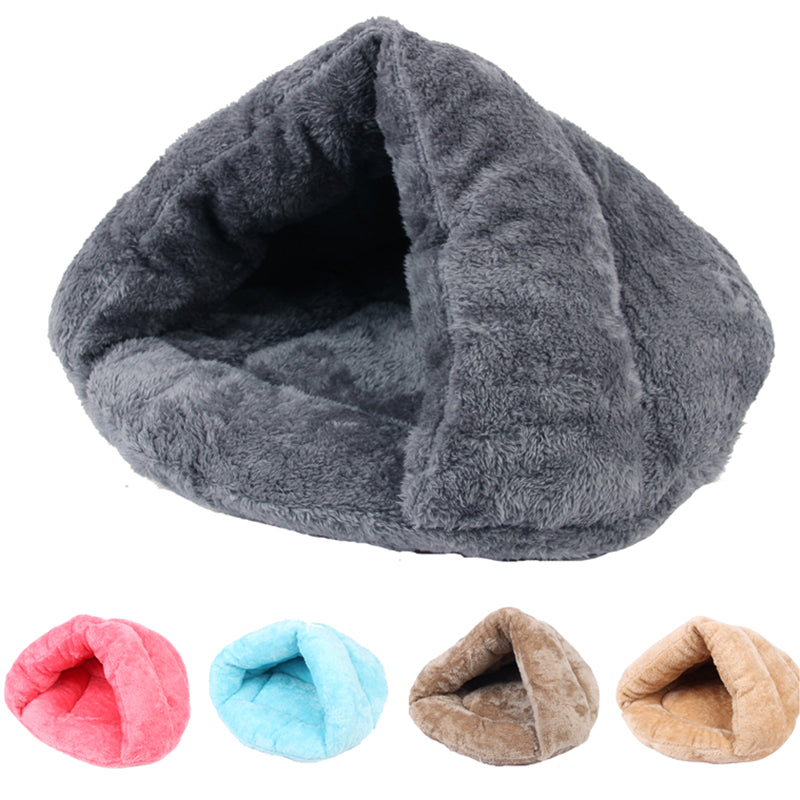 Winter Warm Pets Mat 9 Colors Soft Fleece Thicken Nest Pet Cat Small Dogs Puppy Kennel Bed Kitten Cave Sleeping Bag Puppy House