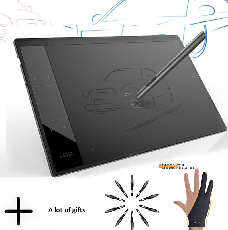 VEIKK A30 Graphic Drawing Tablet for Online Teaching & Learning 10x6 inches Large Active Area Digital Drawing Pad For Artists