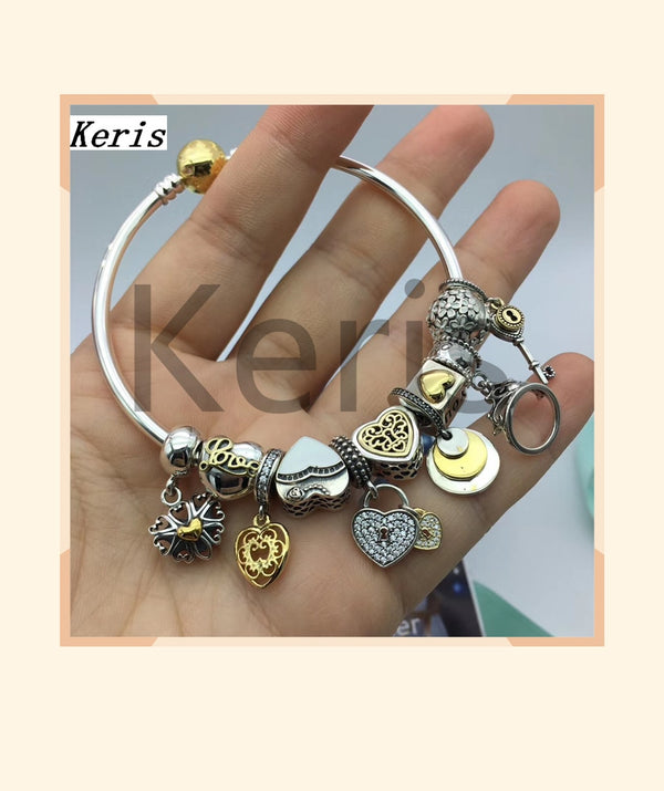 High Quality 1:1 100% Silver Heart Ring Pendant Chain Bracelet Free Of Charge