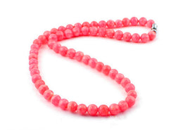 6mm Genuine Red Natural Rhodochrosite Gemstone Necklaces Women Female Natural Stone Long Chain Necklace