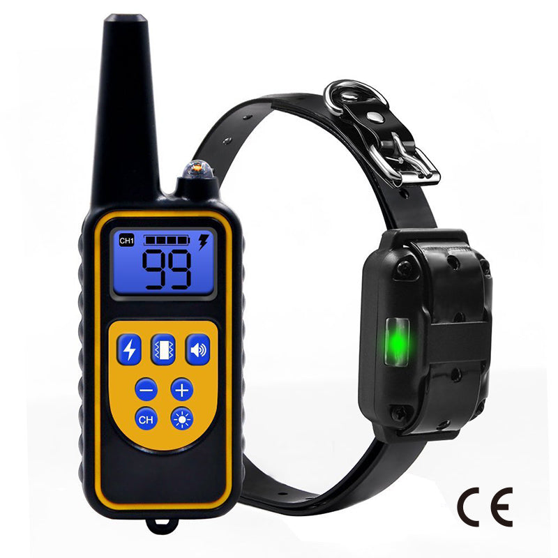 CE Certification Dog Trainer Waterproof Rechargeable LCD Display Electric Dog Training Collar With Remote Controller Pet Supply