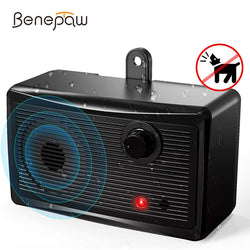 Benepaw Safe Ultrasonic Dog Bark Deterrent Waterproof Effective Anti Barking Device Control Range Up To 15m Pet Training
