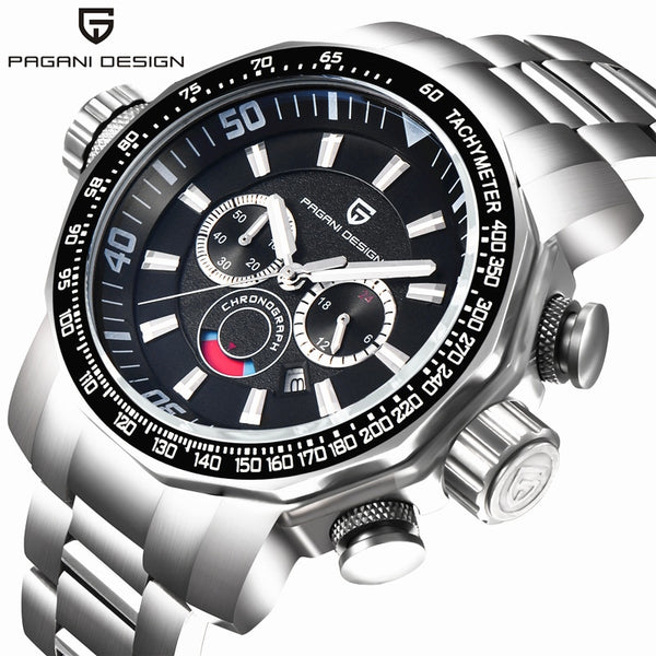 PAGANI DESIGN Men's watches quartz business wristwatch men luxury full steel chronograph large dial sport watch fashion men 2020