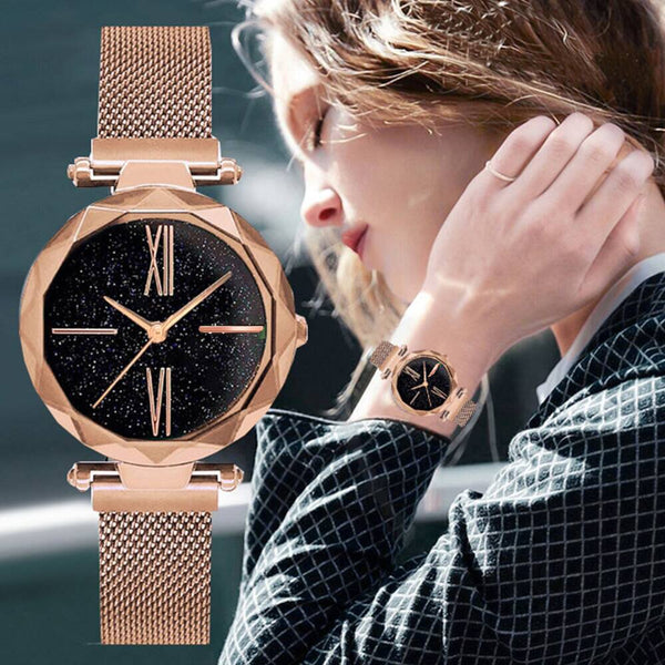 2019 New brand Luxury Women Watches Starry Sky Watch Women Fashion Elegant Magnet Buckle Vibrato rose Gold Ladies Wristwatch