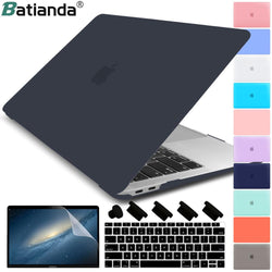 Matte Crystal Plastic Hard Case Cover for MacBook Pro 2017 2018 2019 Pro Retina 13 15 Inch A1706/A1707 Touch Bar New Air 13A1932