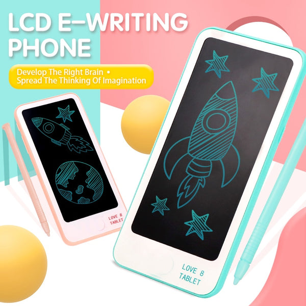 Lcd Writing Tablet 6 inch Electronic Notepad Graphic Painting Tablet Writing Pad Mini Light Digital Drawing Handwriting Phone