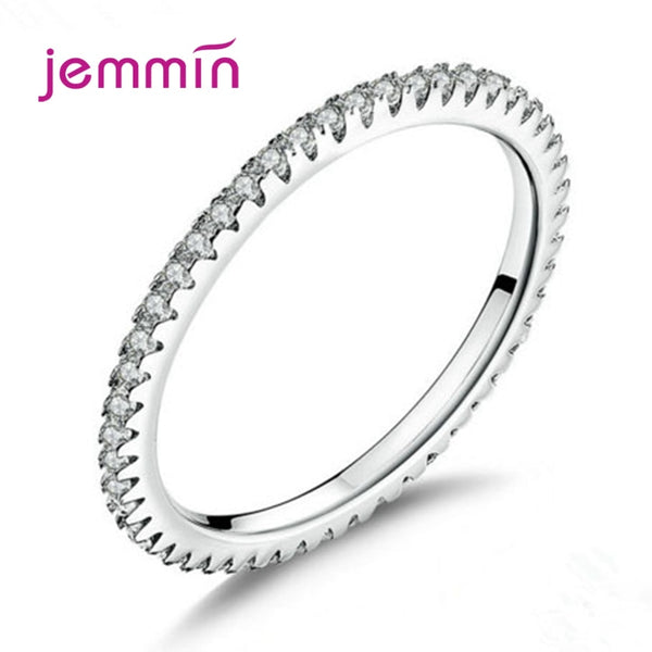 925 Sterling Silver Engagement Ring For Women Girls Fashion Jewelry Trendy Style CZ Cubic Zirconia Pave Setting Wholesale