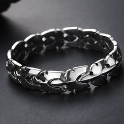 s925 pure silver width centipede shape bracelet man Japan and South Korea personality hipster Thai silver man bracelet smooth