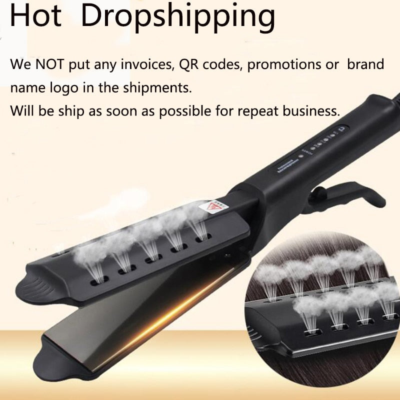 Four-gear temperature Hair Straightener adjustment Ceramic Tourmaline Ionic Flat Iron Curling iron Hair curler For Women hair