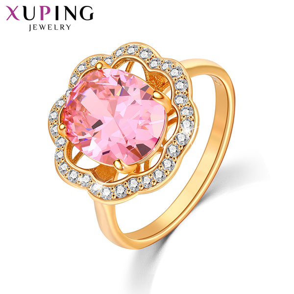 Xuping Fashion Ring New Arrival Gold Color Plated Charm Rings Women Jewelry Lower Price Halloween S198-13147