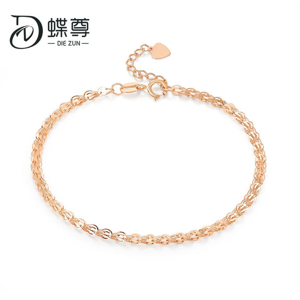 18K Gold Bracelet Rose gold phoenix tail chain bracelet gold bracelet Jewelry Gold Bracelet female genuine Au750