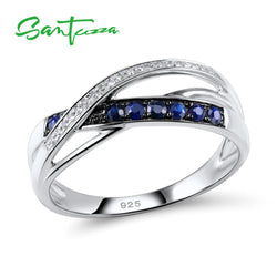 SANTUZZA Silver Ring For Women 925 Sterling Silver Endless Love Rings anillos Engagement Bridal Wedding Fashion Jewelry