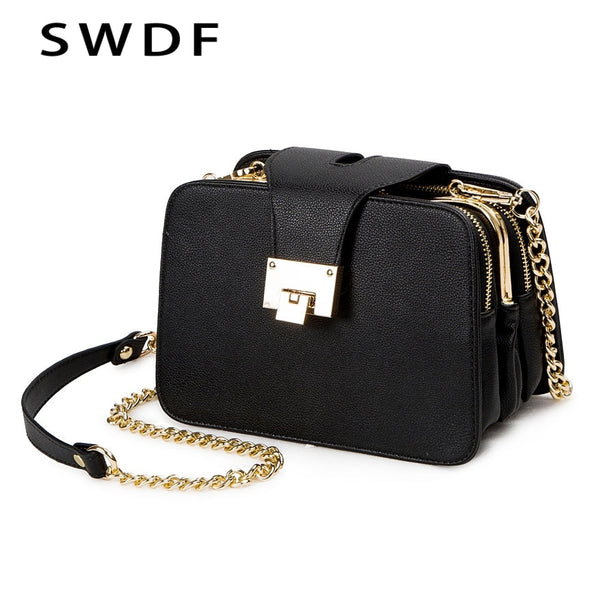 2020 Spring New Fashion Women Shoulder Bag Chain Strap Flap Designer Handbags Clutch Bag Ladies Messenger Bags With Metal Buckle