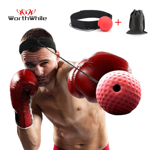 WorthWhile Kick Boxing Reflex Ball Head Band Fighting Speed Training Punch Ball Muay Tai MMA Exercise Equipment Accessories