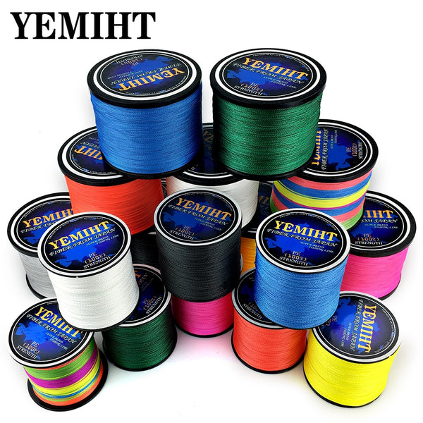 300M 500M 1000M  Strands 10-120LB PE Braided Fishing Wire Multifilament Super Strong Fishing Line Japan Multicolo