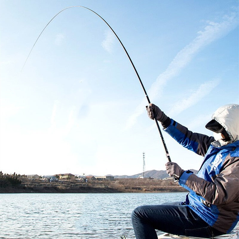 High Quality Carbon Fiber Telescopic Power Hand Pole Fishing Rod 2.7M-10M Travel Ultra light Carp Fishing Rod Feeder VBONI