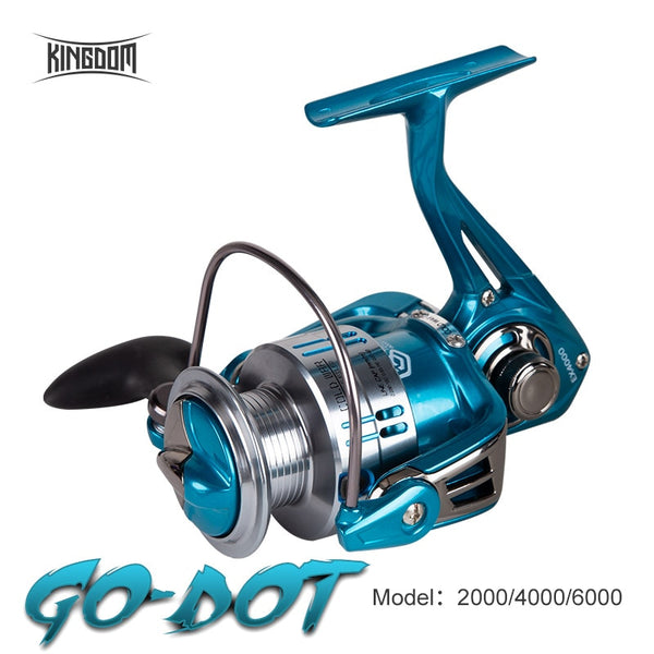 Kingdom Fishing Spinning Reel Winter Fishing Reel Drag 12Kg 11+1BB 5.2:1 2000/4000/6000 Series Water Proof Lightweight  For Pike