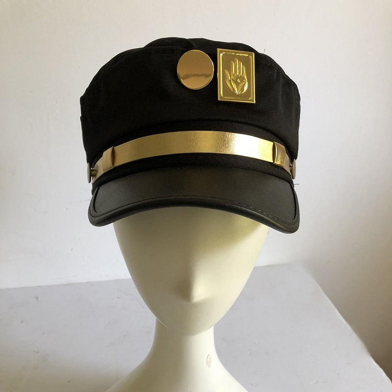 Anime JoJo's Bizarre Adventure Cosplay Cap Jotaro Kujo Joseph Hat Army Military JOJO Caps Hats Badges Animation Around Props