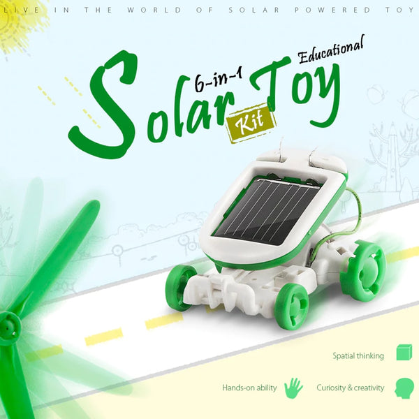 6 in 1 DIY Electric Assembly Robot Toys Kit Solar Combination Intelligence Toy Transformation Car Plane Dog Boat Kids Toys Gifts