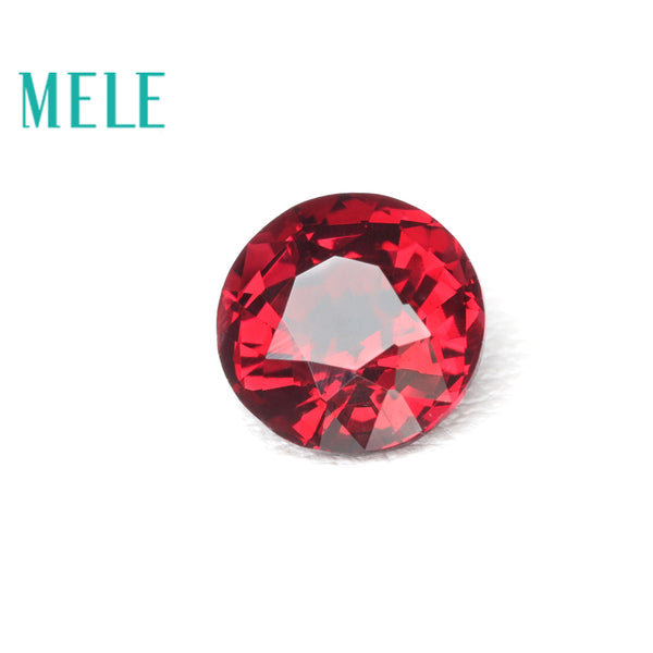 Natural Red Spinel loose gemstone for jewelry making 5.6mm 0.8ct round cut with high quality Diy jewelry mian stone color fire
