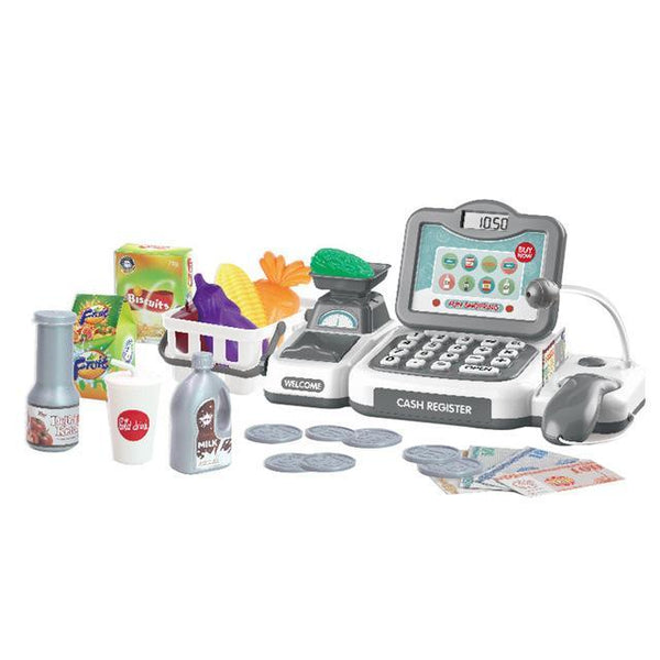Vegetables Fruits Supermarket Counter Simulation Gifts Checkout Shop Pretend Play Cash Register Toy Parents Children Cashier