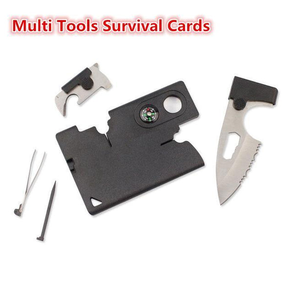 Dropshipping New 9 in 1 Portable Durable Card Knife Tactical EDC Tool Outdoor Sports Camping Survival Self-defense Equipment