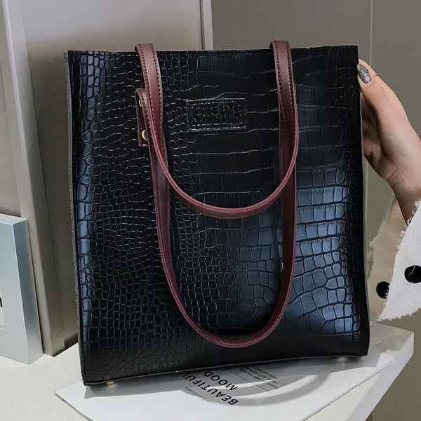 Fashion Crocodile Pattern Women Handbag Leather Ladies Hand Bags Luxury Handbags Women Bags Designer shoulder bag for women 2020
