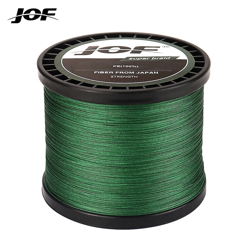 JOF 4 Strands Braided Fishing Line Multifilament 300M 500M 1000M Carp Fishing Japanese Braided Wire Fishing Accessories Pe Line