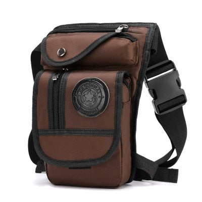 High Quality Men's Canvas Drop Leg Bag Military Motorcycle Multi-purpose Messenger Shoulder Bags Belt Hip Bum Waist Fanny Pack