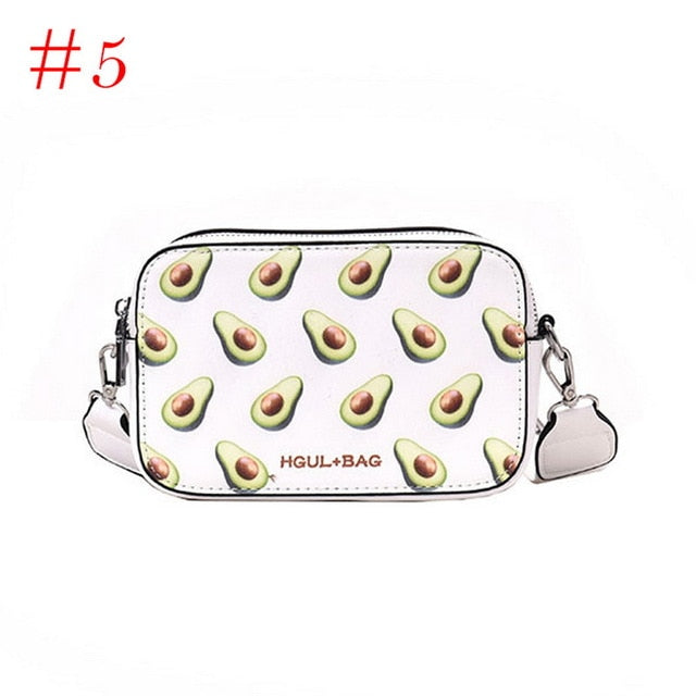 Fruit Avocado Handbags Small Box Shape Shoulder Bags Strawberry Crossbody Watermelon Messenger Bag Fashion Flap For Girls