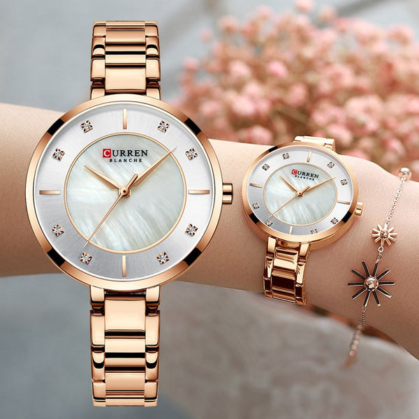 Curren Woman Watches Rose Gold Top Brand Luxury Watch Women Quartz Waterproof Women's Wristwatch Ladies Girls Watches Clock