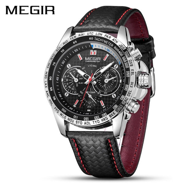 MEGIR Mens Watches Top Brand Luxury Quartz Watch Men Fashion Luminous Army Waterproof Men Wrist Watch  Relogio Masculino 2020