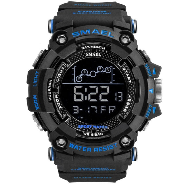Mens Watch Military Water resistant SMAEL Sport watch Army led Digital wrist Stopwatches for male 1802 relogio masculino Watches