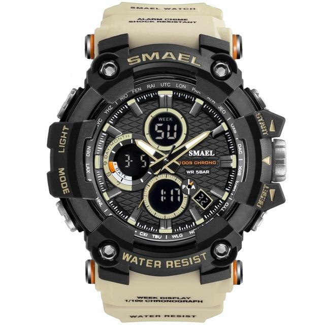 Sport Watch Dual Time Men Watches 50m WaterproofMale Clock  Military Watches for Men 1802D Shock Resisitant Sport Watches Gifts