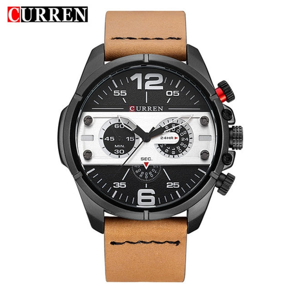 2020 CURREN New Watches Men Luxury Brand Army Military Watch Male Leather Sports Quartz Wristwatches Relogio Masculino 8259